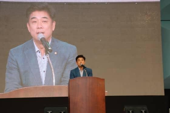축사 중인 김병욱 국회의원
